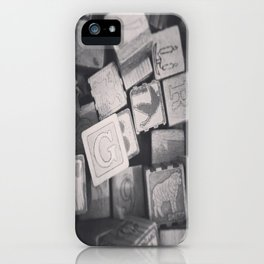 Vintage Wooden Blocks iPhone Case