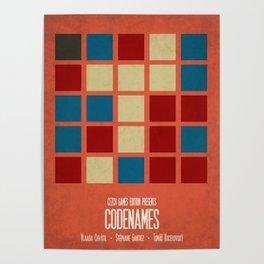 Codenames (Red) - Minimalist Board Games 05B Poster