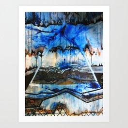 Blue Note Fire Art Print