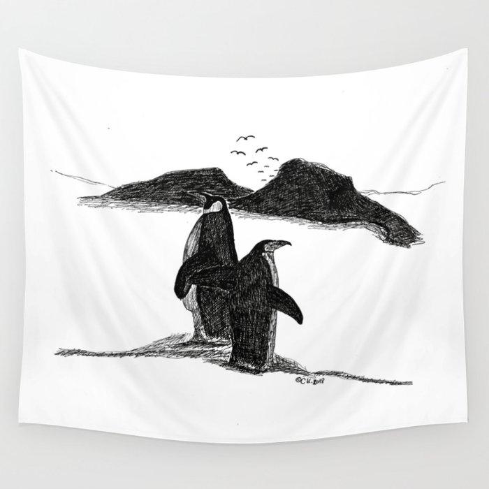 Penguins Wandbehang