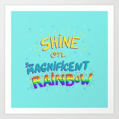 Magnificent Rainbow Art Print