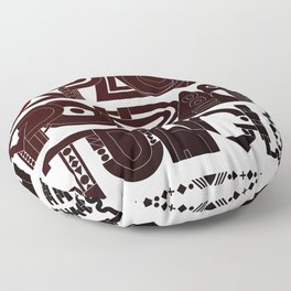 Explore The Typographic Jungle Floor Pillow