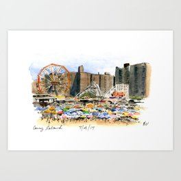Coney Island on the Fourth of July Art Print