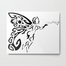 Sexy Fairy in Flight Metal Print