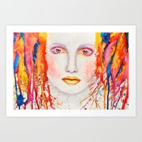 splatter Art Prints featuring Splatter by Funkygirl4ever95