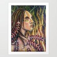 phoenix Art Prints featuring phoenix by Beth Jorgensen