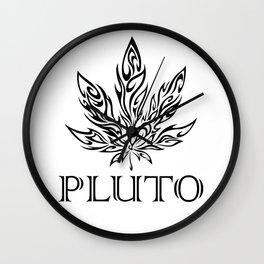 Pluto's Weed Wall Clock