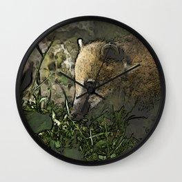 toony coati Wall Clock