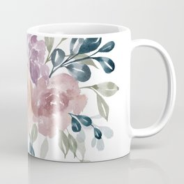 Fall Flowers + Leaves Coffee Mug