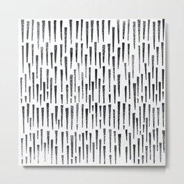 Black and White Arrows Metal Print