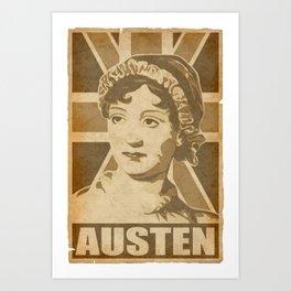 Jane Austen Brittain Art Print