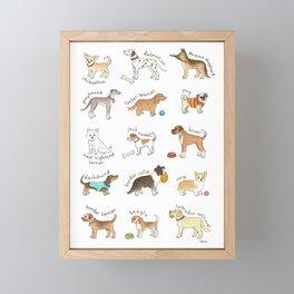 Breeds of Dog Framed Mini Art Print
