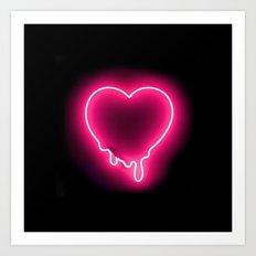 Heart (Neon) Art Print