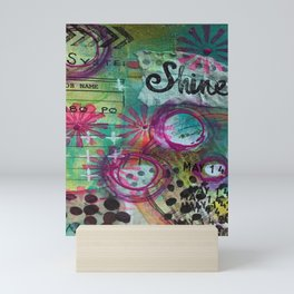 Shine On Teal Mini Art Print