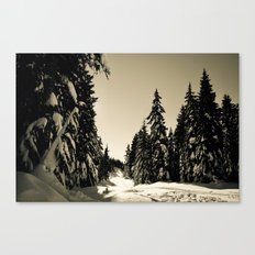 Snow Day Cypress Mountain BC Canada Canvas Print