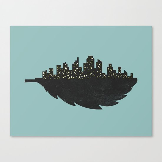 Leaf City Canvas Print