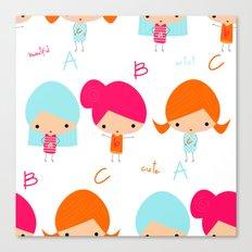 ABC Little Girls Canvas Print