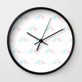 Little birds in love Wall Clock
