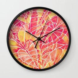 Schismatoglottis Calyptrata – Pink/Peach Palette Wall Clock