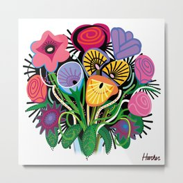 Yelapa Flowers Metal Print