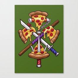 Ninja Pizza Canvas Print