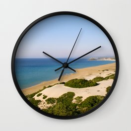Golden Beach Wall Clock