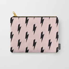 Lightning Bolts Blush Carry-All Pouch