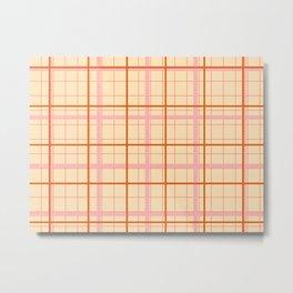 grid check layer_beige Metal Print