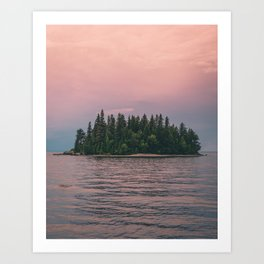 Lonely Island on Lac Saint-Jean Art Print