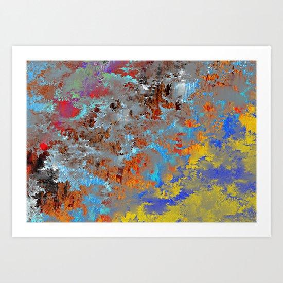 autumn fresh rainy days Art Print