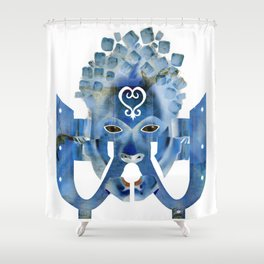 Sankofa Spirit - Blue Variant Shower Curtain