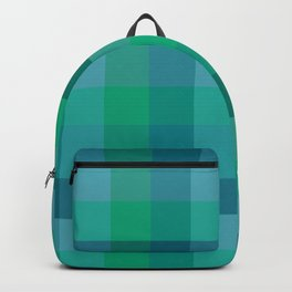 Turquoise Check / Plaid Striped Digital Pattern Backpack