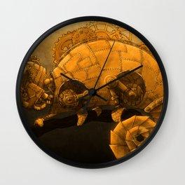 Steampunk Chameleon Wall Clock