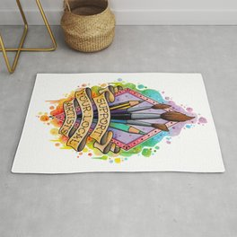 Support your local artist design Rug
