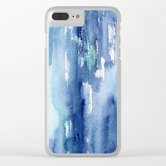 Blue vibes #2 || watercolor Clear iPhone Case