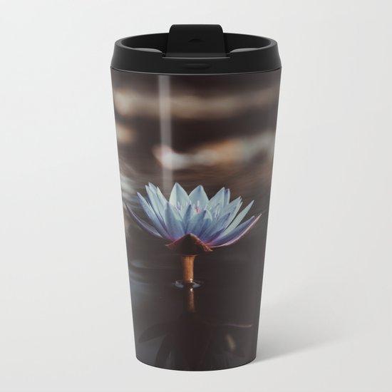 pastel blue Metal Travel Mug