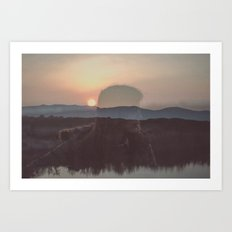Is there anything interesting up there in heaven? Art Print
