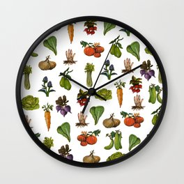 Vegetables Pattern Wall Clock