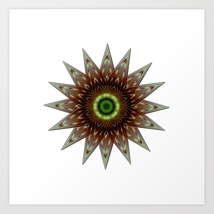 Fractal Wind Rose Art Print