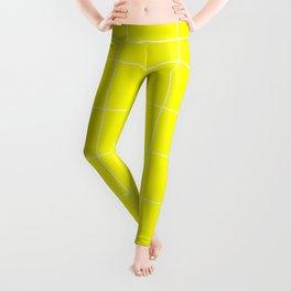 Graph Paper (White & Yellow Pattern) Leggings