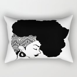 Fro African W&B Rectangular Pillow