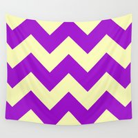 dessert Wall Tapestries featuring Chevron Plum Dessert by Alice Gosling