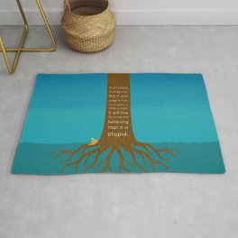 Lab No.4 Everyday Is A Genius.  But If You Judge A Fish By Its Ability To Climb A Tree Quotes poster Rug