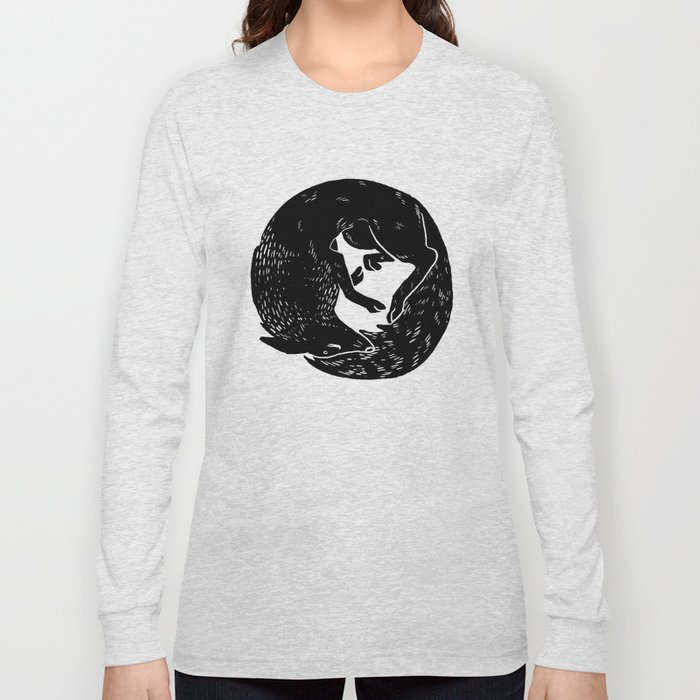 black and white thoughts Long Sleeve T-shirt