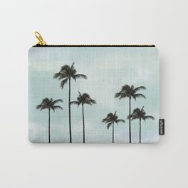 Palm Tree | Landscape Photography | Sunset Clouds | Blue Sky | Minimalism Carry-All Pouch