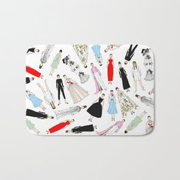 Audrey Hepburn Fashion (Scattered) Bath Mat