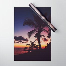 Summer Night Sunset Wrapping Paper