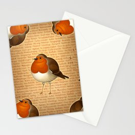 Chubby Erithacus Stationery Cards