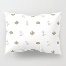 Maple Leafs - White Pillow Sham