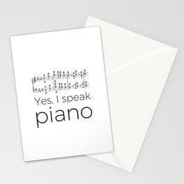I speak piano Stationery Cards